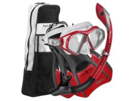 Aqua Lung Admiral Mask, Fin, Dry Snorkel Set with Snorkeling Gear Bag Review