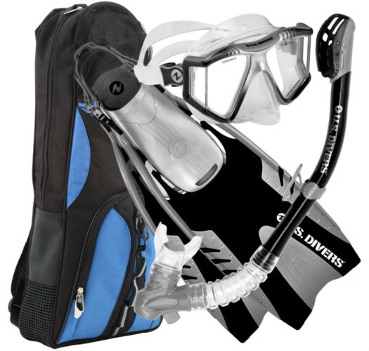 US Divers Panoramic View Lux Platinum Snorkel Set